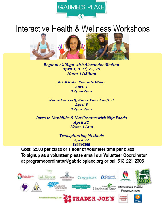 April Wellness Workshop Flier